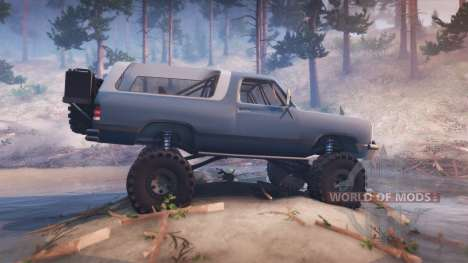 Dodge Ramcharger II 1991 blue grey-clean para Spin Tires