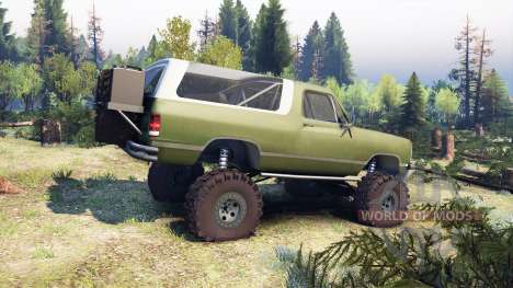 Dodge Ramcharger II 1991 green para Spin Tires