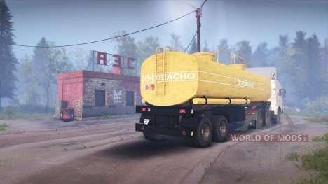 KamAZ-54115 para Spin Tires