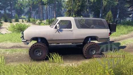 Dodge Ramcharger II 1991 tan para Spin Tires