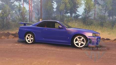 Nissan Skyline R34 GT-R NISMO Z-tune para Spin Tires