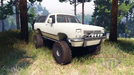 Dodge Ramcharger II 1991 beige para Spin Tires
