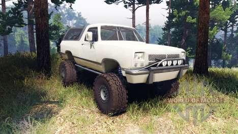 Dodge Ramcharger II 1991 beige para Spin Tires