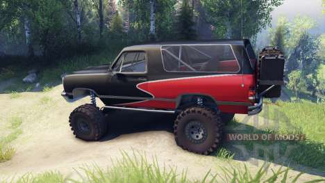 Dodge Ramcharger II 1991 red and black-clean para Spin Tires
