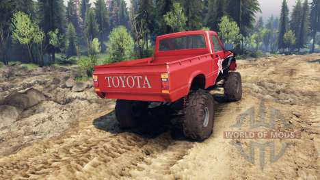 Toyota Hilux Truggy 1981 v1.1 rigid industries para Spin Tires