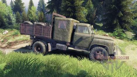GAZ-53 verde para Spin Tires