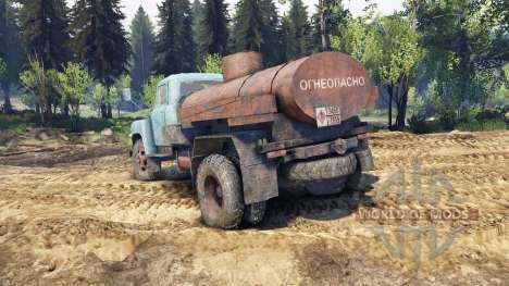 GAZ-53 azul para Spin Tires