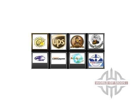 Los logotipos de la empresa para el conductor para Euro Truck Simulator 2