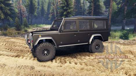 Land Rover Defender 110 black para Spin Tires