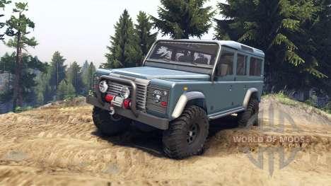 Land Rover Defender 110 blue metalic para Spin Tires