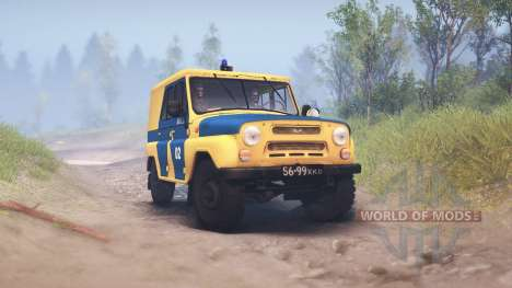 UAZ-B de la policía de la URSS para Spin Tires