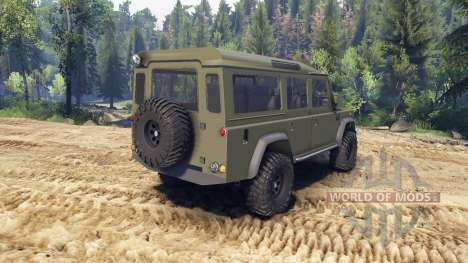 Land Rover Defender 110 flat green para Spin Tires