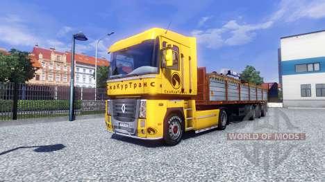 La piel Securetrans en el tractor Renault para Euro Truck Simulator 2
