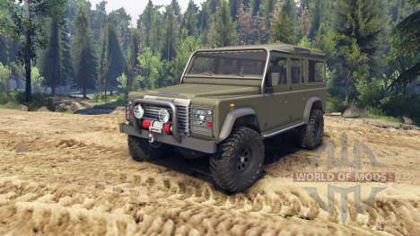Land Rover Defender 110 flat green para Spin Tires