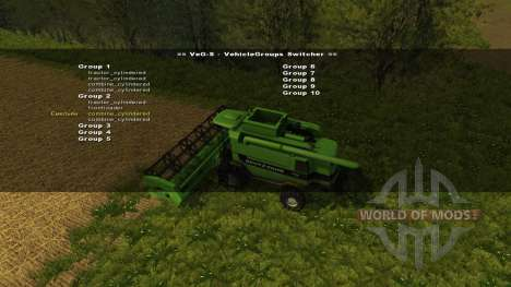 VehicleGroups Switcher v0.97 para Farming Simulator 2013