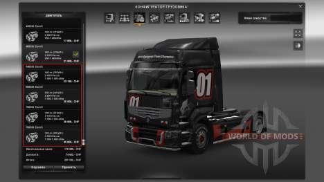 Pak motor para Renault Premium para Euro Truck Simulator 2