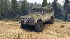 Land Rover Defender 110 dirty flat green
