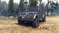 Land Rover Defender 110 dark blue gray para Spin Tires