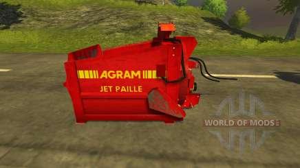 Pailleuse Agram Jet de paille para Farming Simulator 2013