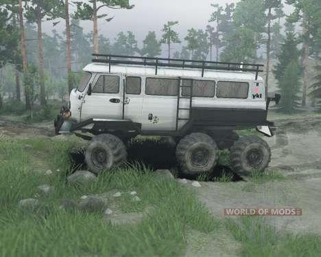 UAZ 6x6 para Spin Tires