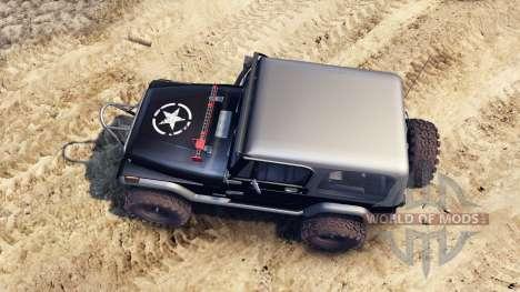 Jeep YJ 1987 black para Spin Tires