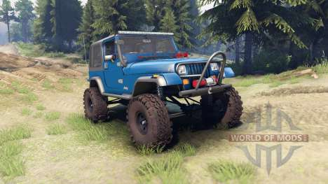Jeep YJ 1987 blue para Spin Tires