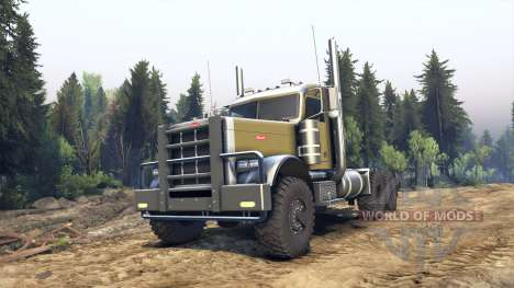 Peterbilt 379 green para Spin Tires