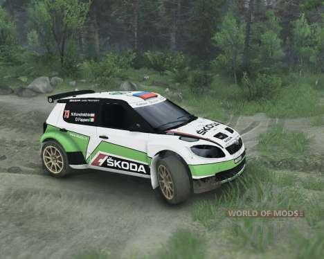 Skoda Fabia S2000 para Spin Tires