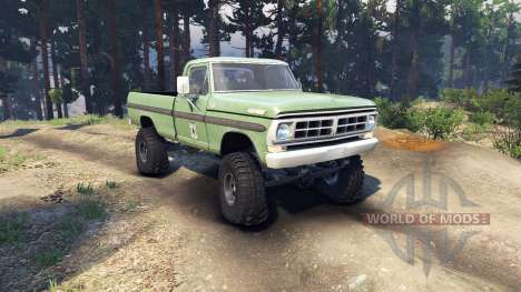 Ford F-200 1968 forest ranger para Spin Tires