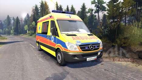 Scania 260 и Mercedes-Benz Sprinter para Spin Tires