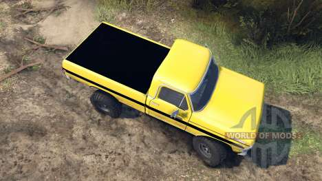 Ford F-200 1968 yellow para Spin Tires