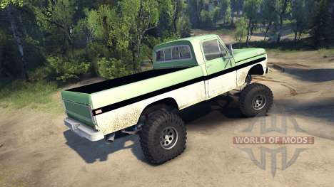 Ford F-200 1968 green and white para Spin Tires