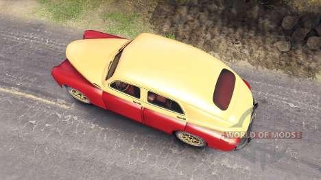 GAZ-M-20 de la Victoria para Spin Tires