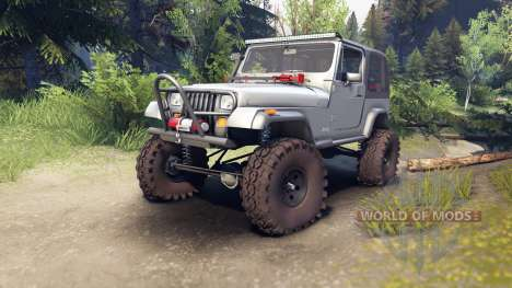 Jeep YJ 1987 silver para Spin Tires