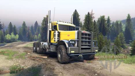 Peterbilt 379 yellow para Spin Tires