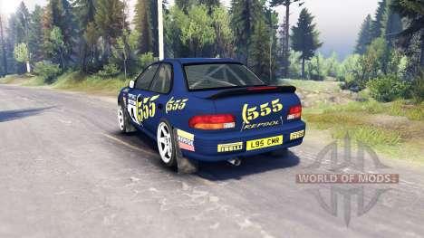 Subaru Impreza para Spin Tires