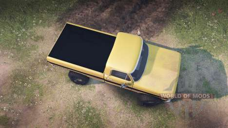 Ford F-200 1968 saddle tan para Spin Tires