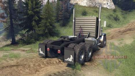 Peterbilt 379 v1.1 green para Spin Tires