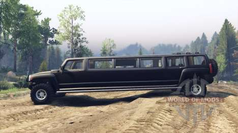 Hummer H3 Limousine para Spin Tires