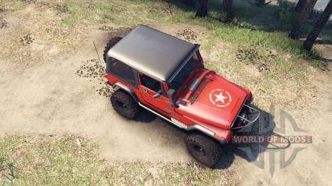 Jeep YJ 1987 orange para Spin Tires