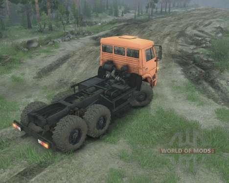KamAZ 65221 para Spin Tires