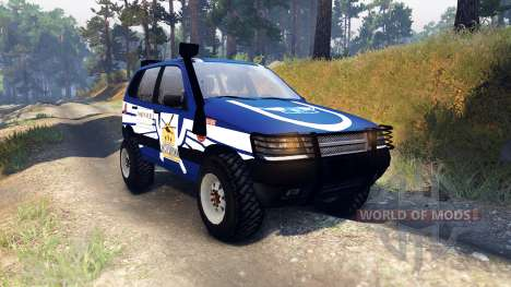 ВАЗ-21236 Chevrolet Niva azul para Spin Tires