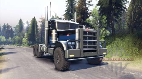 Peterbilt 379 black blue para Spin Tires