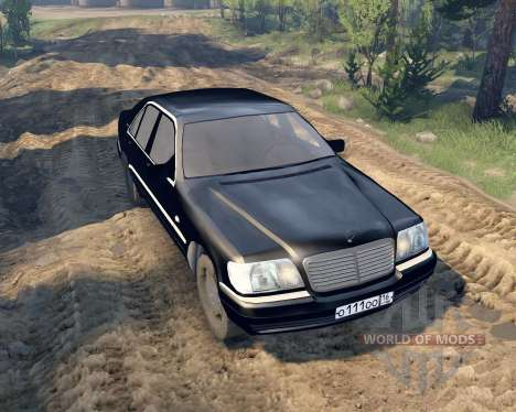 Mercedes W140 para Spin Tires