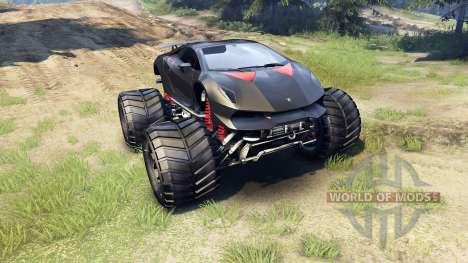 Lamborghini Sesto Elemento Monster Truck para Spin Tires