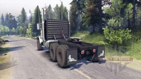 Peterbilt 379 black blue para Spin Tires