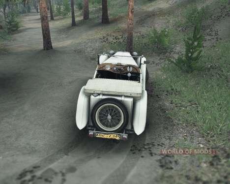 MG TC Midget 48 para Spin Tires
