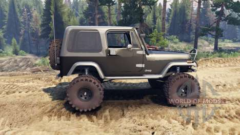 Jeep YJ 1987 black para Spin Tires