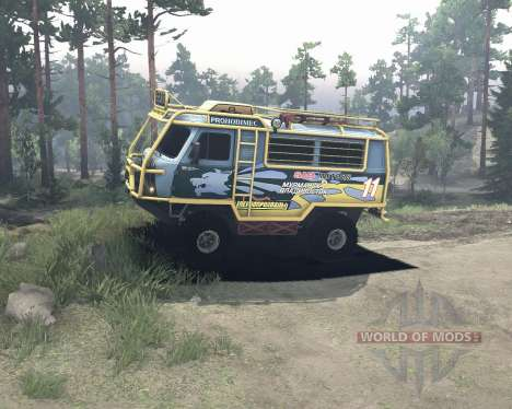 UAZ 3909 off-road para Spin Tires
