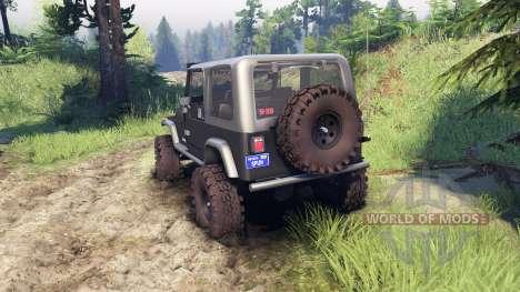 Jeep YJ 1987 gray para Spin Tires